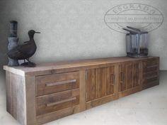 Ouder slaapkamer | stoer tv-meubel steigerhout. Door 7144laura