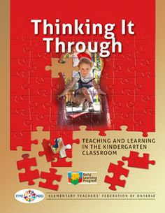 ETFO Document- Teaching and learning in the kindergarten classroom. Books on… Play Based Learning, Project Based Learning, Early Learning, Learning Resources, Full Day Kindergarten, Kindergarten Learning, Early Years Teacher, Professional Development For Teachers, Information Literacy
