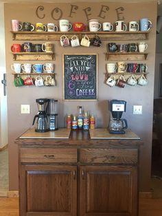 Yes my coffee bar is finally complete!!! #coffeemugs #coffeebar