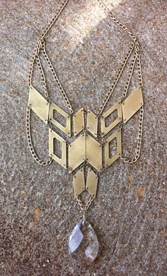 OMG I want everything in this shop-Hinged Chest Plate Necklace by scarlettgarnet on Etsy