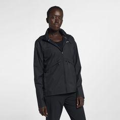 66e79e986b8f Nike Essential Women s Packable Running Rain Jacket Size S (Black)