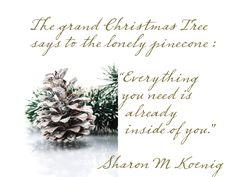 Christmas quote Sharon M Koenig