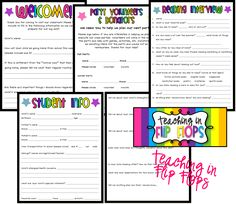 These back to school freebies are seriously wonderful! I love the colors and I love the questions!