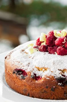 A freshly baked cake (such as this divine white chocolate and raspberry cake) will be served every afternoon in your Skibug chalet www.skibug.co.uk