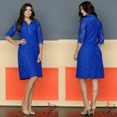 Azul  O que acham meninas?? Para maiores modelos e informações entre no link www.lolapolan.com.br  #LOLAPOLAN  #VESTIDOS  #MODAEVANGELICA  #modafeminina #roupas #conjutos