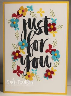 Stampin' Sarah!: A Bright Botanicals for You Celebration Card from Stampin' Up! UK Demonstrator Sarah Poulton