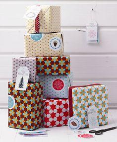 Geschenkpapier, Geschenkanhänger und Deko-Etiketten zum Ausdrucken