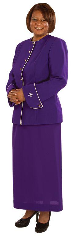 Women's Clergy Jacket Royal Purple-H-166