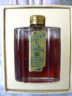 Antique Art Deco Glass Mini Bottle of Gardenia by Orelay, $55.00