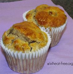 """Wheat & gluten free breakfast muffins recipe, the ideal """"grab on the go"""" breakfast solution"""