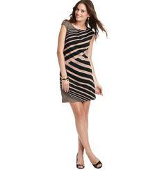 Diagonal Stripe Ponte Cap Sleeve Dress - Loft - Bought this yesterday.  Cute!  89.50 - I got it 40% off.