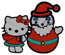 Christmas Time Kitty embroidery design brother pe770 embroidery machine for sale