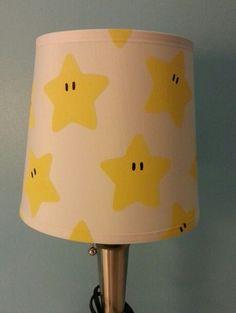 Super Mario lampshade - for babies Super Mario themed nursery! Nursery Twins, Nursery Themes, Nursery Room, Themed Nursery, Geek Nursery, Nursery Ideas, Room Ideas, Baby Boy Rooms, Baby Bedroom