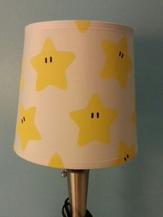 Super Mario lampshade - for babies Super Mario themed nursery! Hand painted adorableness!