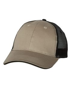 Valucap - Sandwich Trucker Cap - S102 Khaki/ Black