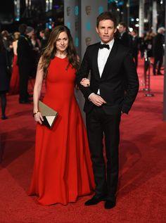 2016 BAFTA Awards - Hannah Bagshawe in Emilia Wickstead and Eddie Redmayne