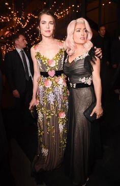 Salma Hayek and  Carlota Casiraghi at the Cannes film festival 2017