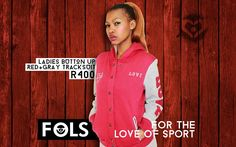 Ladies' Button-up Red & Grey Tracksuit 2015 Winter, Red And Grey, Button Up, Rain Jacket, Windbreaker, Range, Lady, Jackets, Fashion