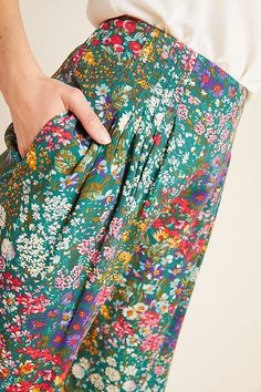 Really pretty fabric from Anthropologie! Gorgeous color and wide flowy pants. Pretty Outfits, Cute Outfits, Emo Outfits, Batman Outfits, Rock Outfits, Hipster Outfits, Fall Outfits, Summer Outfits, Rock Style