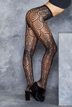 Flapper Hosiery ($25AUD) by BlackMilk Clothing