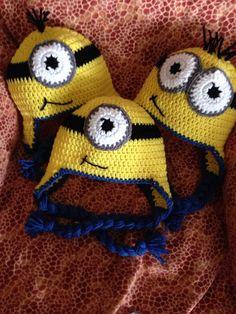 Crochet minion beanie hat by CozyUpCrochet on Etsy, $20.00