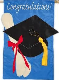 "Evergreen Flags help celebrate any occasion...""Congratulations"" flag perfect for graduation time!"