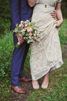 Edwardian Lace and Pretty Flowers in Her Hair ~ A Charming English Country Garden Wedding - Love My Dress Wedding Blog