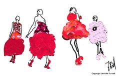 Alexander McQueen fall 2012 fashion illustration by Jennifer Purcell