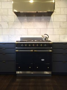 Best idea with beautiful brass square hood..Lacanche Range | frenchranges.com