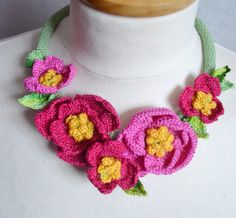 Hey, I found this really awesome Etsy listing at https://www.etsy.com/listing/278237602/pink-camellia-crochet-necklace-choker