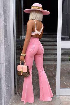 Fashion Moda, Pink Fashion, Fashion Outfits, Womens Fashion, Fashion Fashion, Jeans Fashion, Winter Fashion, Fashion Trends, Miami Fashion