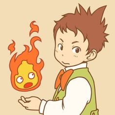 Howl's Moving Castle - Markl and Calcifer