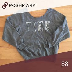 PINK crewneck like new :) DONT FORGET TO BUNDLE AND SAVE PINK Victoria's Secret Sweaters Crew & Scoop Necks