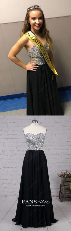 Black Prom Dresses For Teens, Long Formal Evening Dresses With Slit, Chiffon Military Ball Dresses Sweetheart, Sparkly Pageant Graduation Party Dresses Beading Prom Dresses For Teens Long, Spring Formal Dresses, Sparkly Prom Dresses, Vintage Formal Dresses, Unique Prom Dresses, Prom Dresses Online, Formal Evening Dresses, Trendy Dresses, Prom Gowns