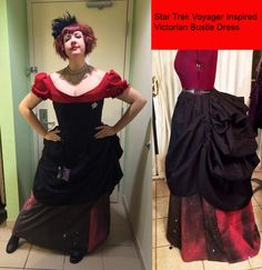 Star Trek Voyager Inspired Cosplay Victorian Corset Bustle Dress CUSTOM SIZED Red, Blue, or Yellow by TracyMichelleCouture on Etsy https://www.etsy.com/listing/174987778/star-trek-voyager-inspired-cosplay