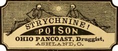 vintage poison labels