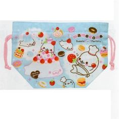 San-X Mamegoma Little Seal Sweets Factory Bento Pouch