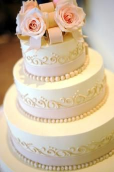 Pearls, Swirls, and Blush Pink Roses