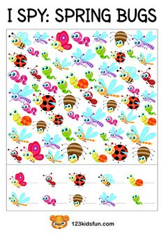 I SPY - Free Spring Printable Game for Kids. Your kids will love this free I Spy printable game for travel or home activty. Free Preschool, Preschool Printables, Preschool Worksheets, Spy Games For Kids, I Spy Games, Kids Fun, Montessori Activities, Preschool Activities, Printable Board Games