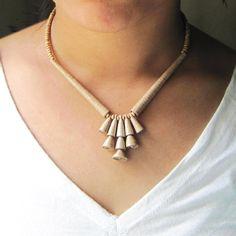 Zen jewelry - Brown necklace - Eco friendly jewelry - Neutral bead necklace - Neutral, Zen, Eco friendly, Brown, beige, cream. $32.00, via Etsy.
