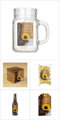 Country Sunflower #Wedding Reception Products