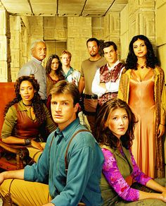 Firefly cast picture... with Alan Tudyk looking just a wee bit high.