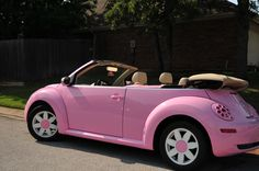 pink VW Beetle    I love it!