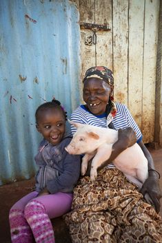Farm animals & other resources can be like a 🐷 bank for families in need, like Irene, 3, & her grandma in Kenya. Learn more & shop now for gifts that make a real difference in kids' lives! Charity Gifts, Helping Children, Giving Back, Farm Animals, Irene, Kenya, Families, Shop, Kids