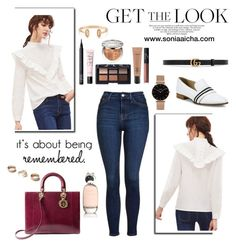 Get that Streetstyle Look by soniaaicha on Polyvore featuring polyvore, fashion, style, Topshop, rag & bone, Christian Dior, CLUSE, Kendra Scott, Dorothy Perkins, Gucci, NARS Cosmetics, MAC Cosmetics, Comme des Garçons and clothing