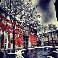 Lux, Nijmegen #redbol #clouds #winter