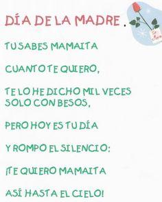 Maestra de Infantil: Poemas para el día de la madre