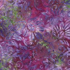 Wilmington Batavian Batiks Floral Tapestry Purple Pink