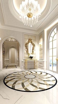 The luxury marble floor design is created to exude elegance and class. this Luxury Marble Floor Designs will give your high end home the ultimate of luxury. Classic Interior, Luxury Interior, Home Interior Design, Interior Architecture, Interior And Exterior, Interior Decorating, Luxury Decor, Interior Modern, Decorating Tips