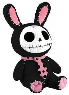 Furrybones® Black Bun-Bun Plush by Summit Collection #inked #inkedshop #inkedmagazine #toys #accessories #cute